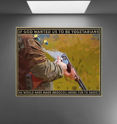 If god wanted us to be vegetarians poster 1