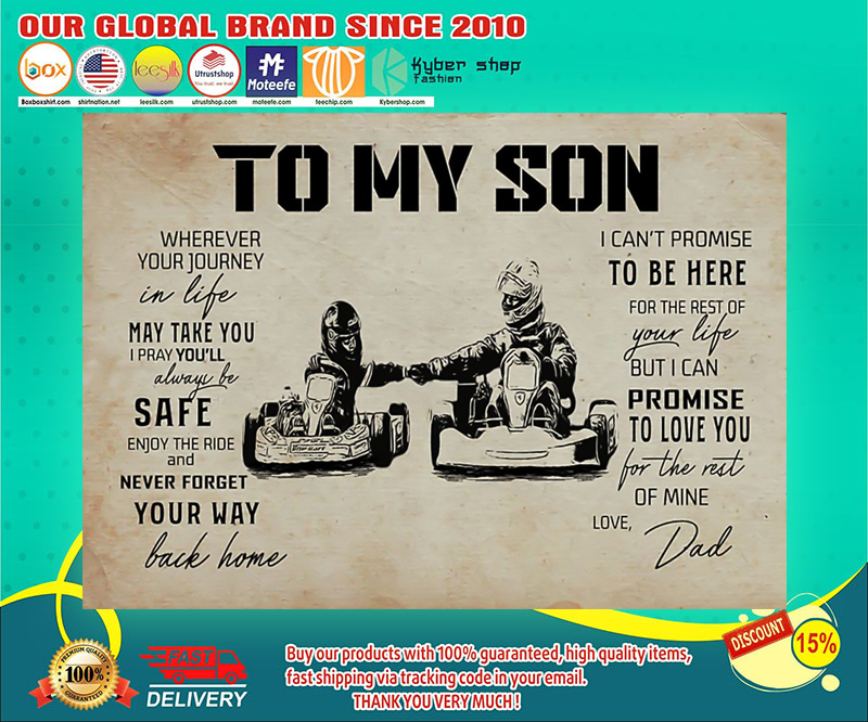 Kart racing dad to my son poster 19