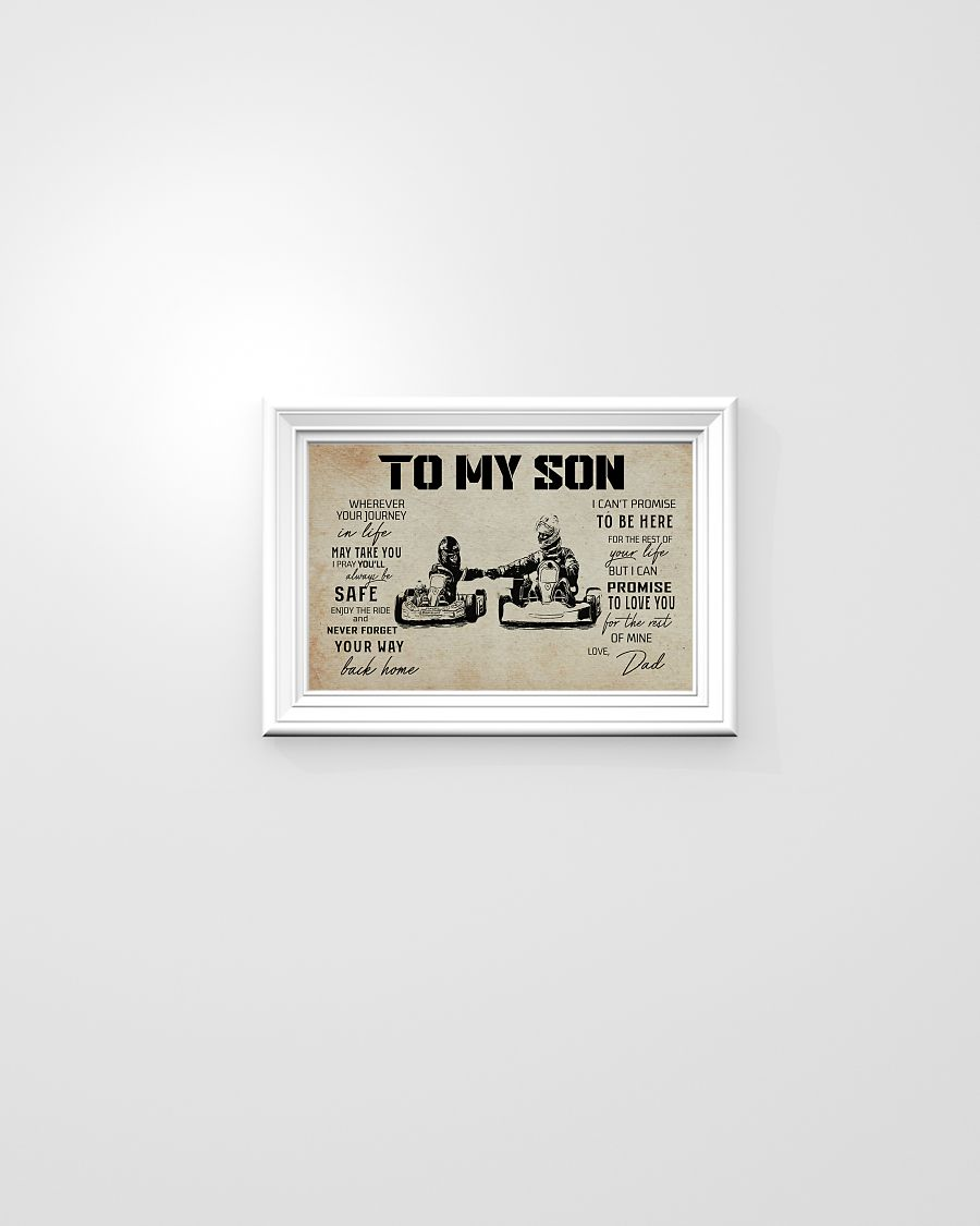 Kart racing dad to my son poster 21