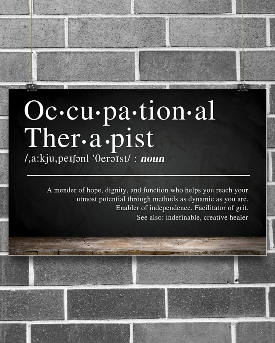 Occupational therapist definition poster 21