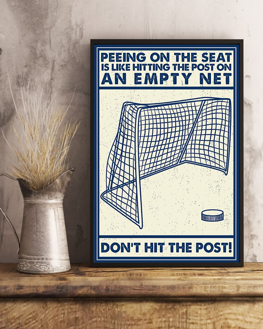 Retro hockey peeing on the seat is like hitting the post on an empty net poster 21