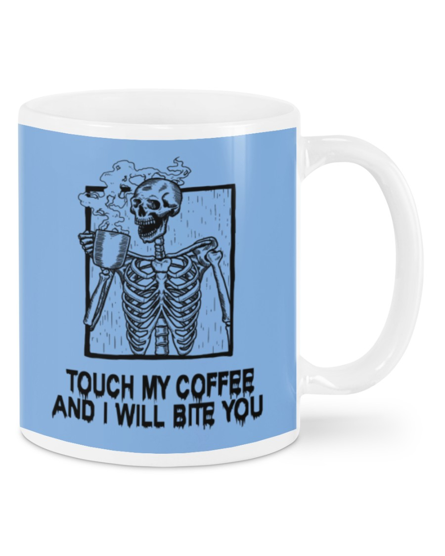 Skeleton skull Touch my coffee and I will bite you mug 21