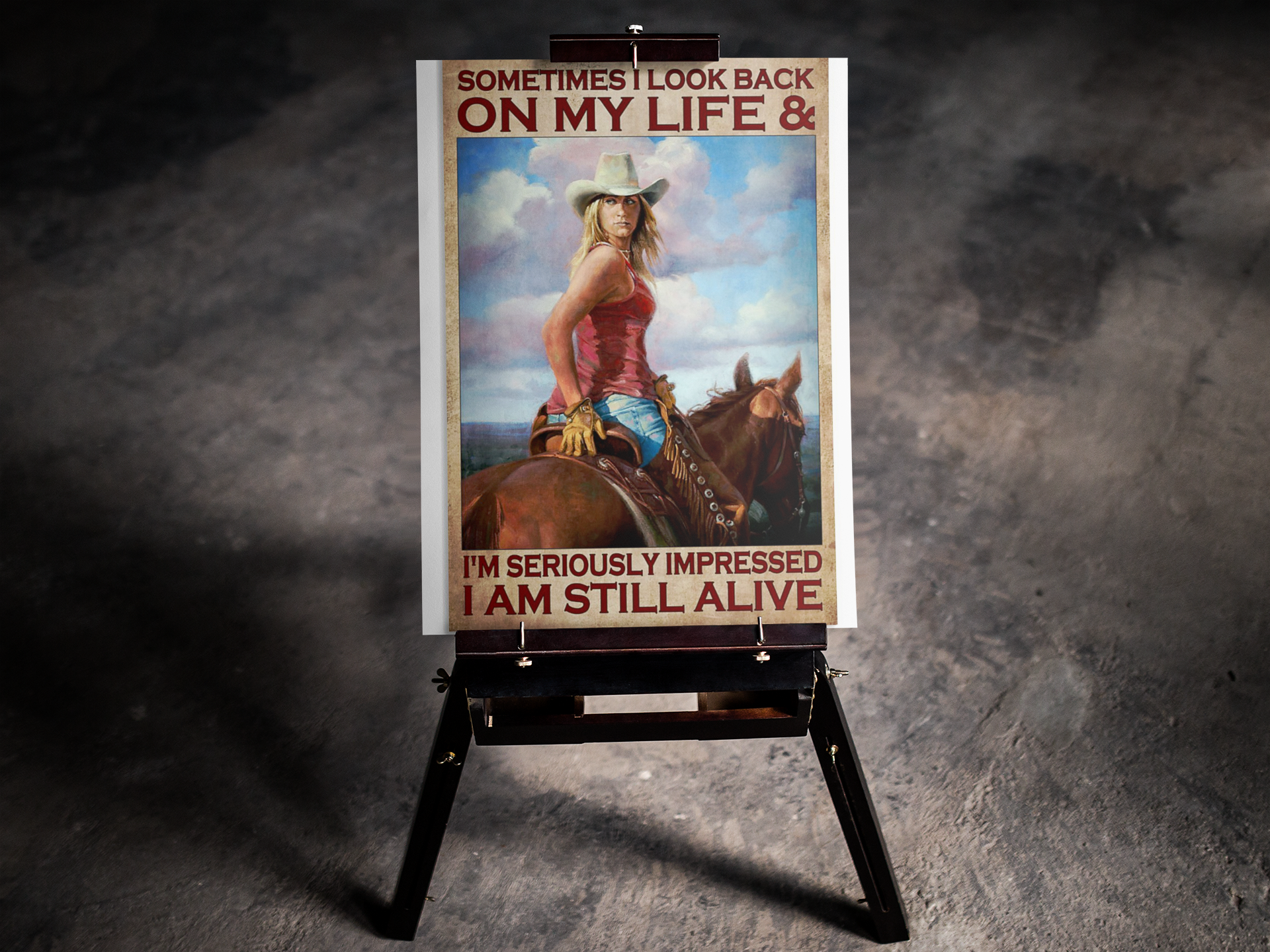 Sometimes I look back on my life and I'm seriously impressed I am still alive poster 17