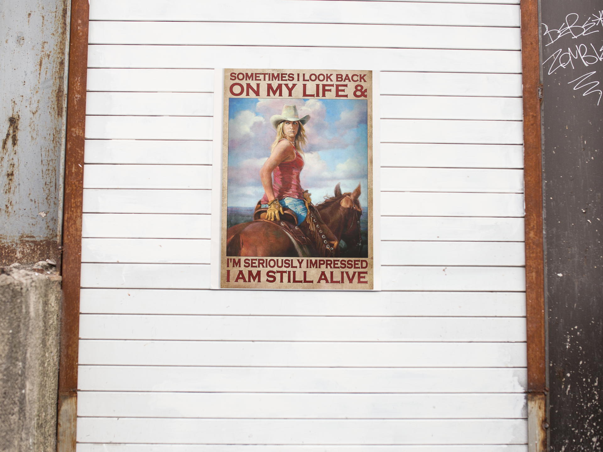 Sometimes I look back on my life and I'm seriously impressed I am still alive poster 19