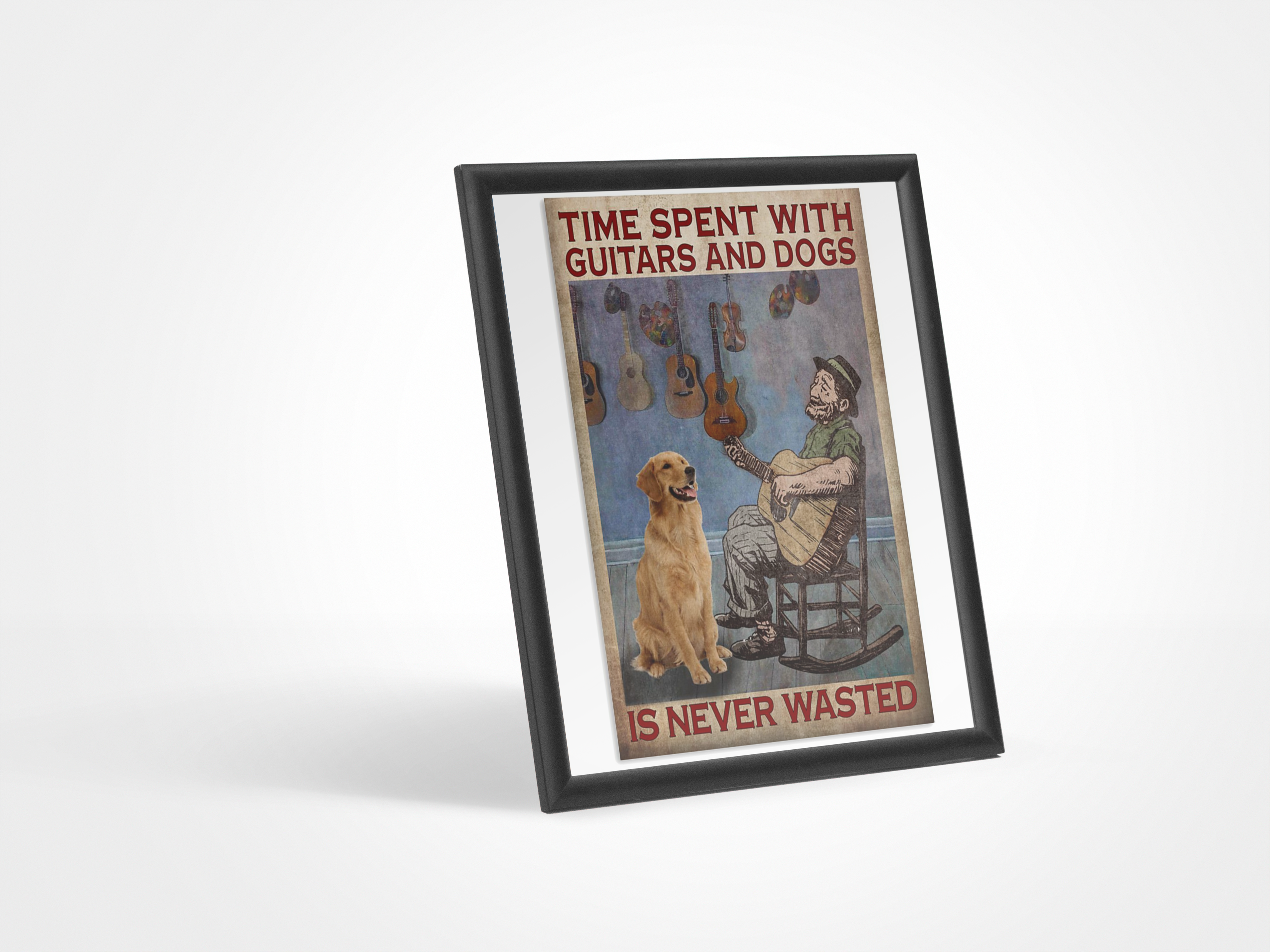 Poster Time spent with guitars and dogs is never wasted 19