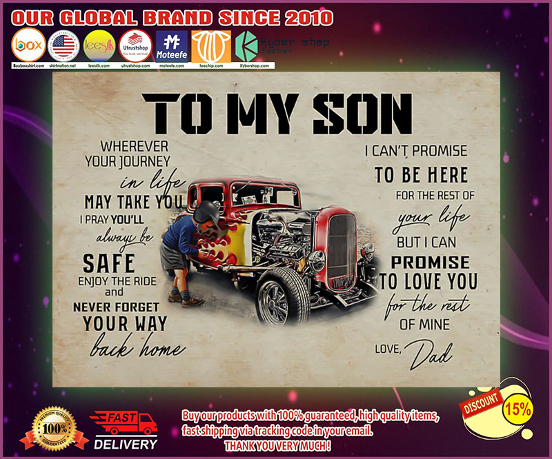 Truck To my son wherever your journey in life poster 19