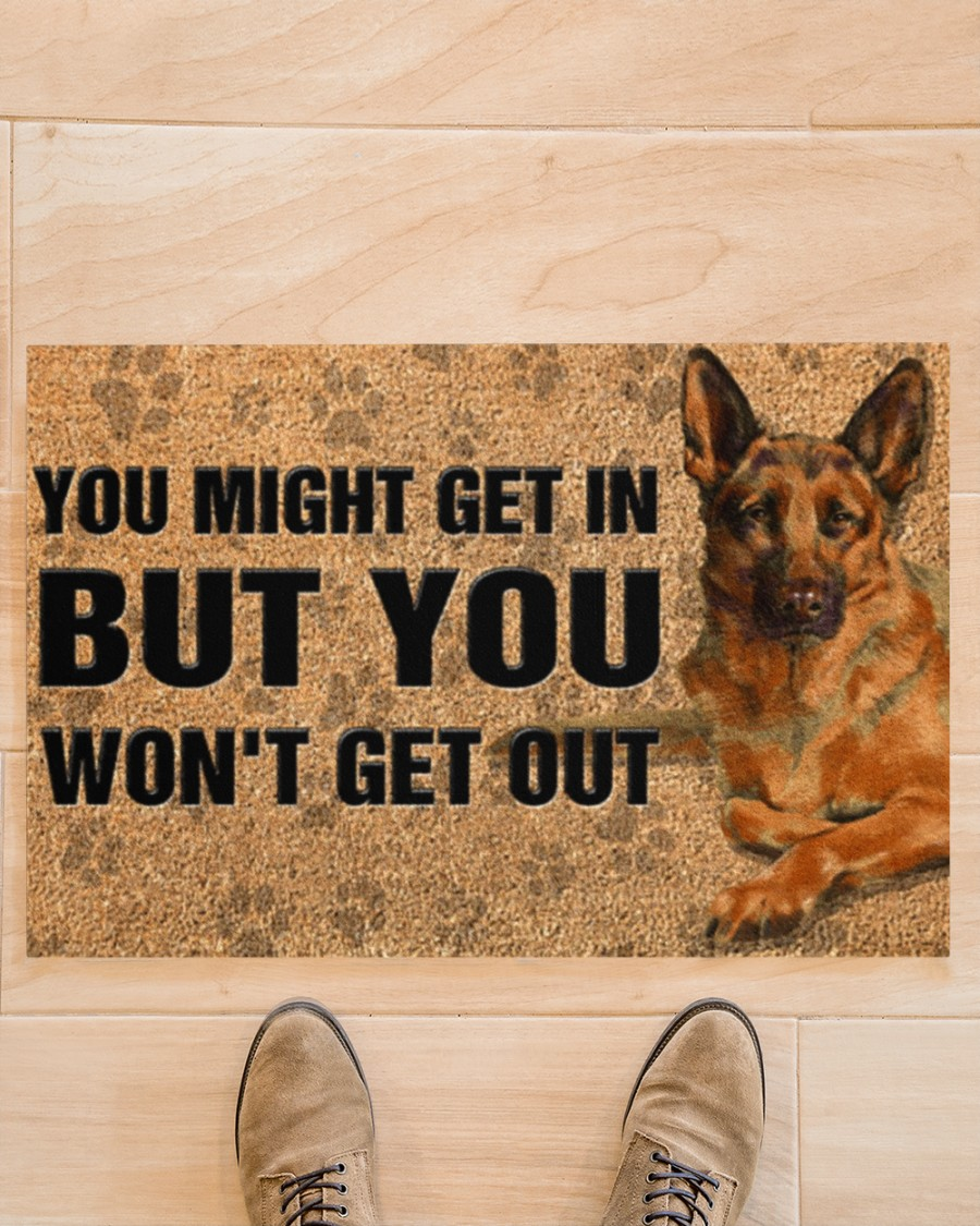 You might get in but you won't get out doormat 21