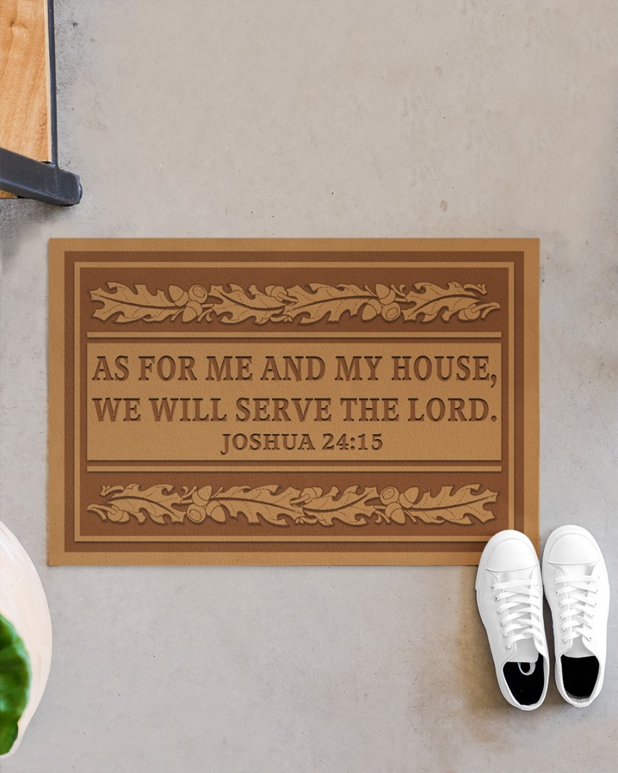 As for me and my house we will serve the lord doormat A3