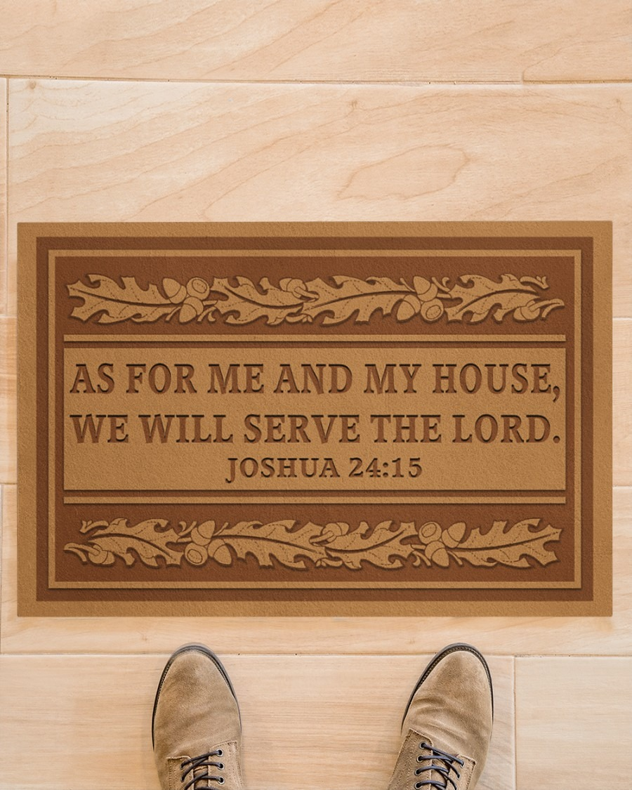 As for me and my house we will serve the lord doormat A4