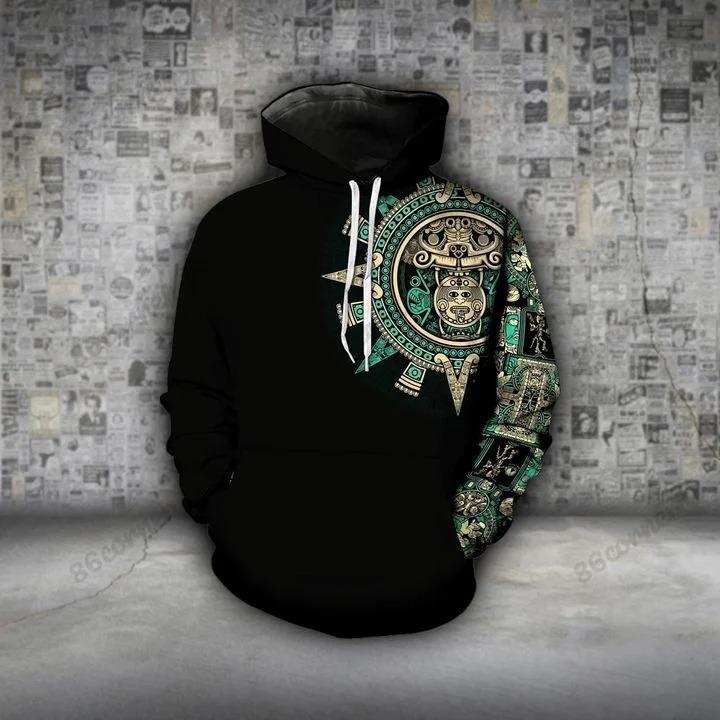 Aztec emerald 3D hoodie and legging