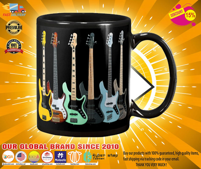 Bass guitar set mug A3