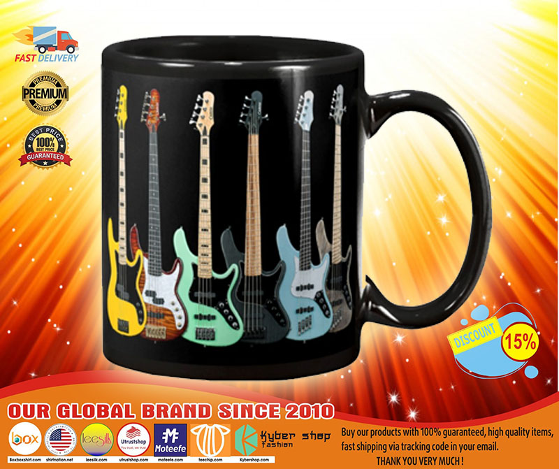 Bass guitar set mug A4