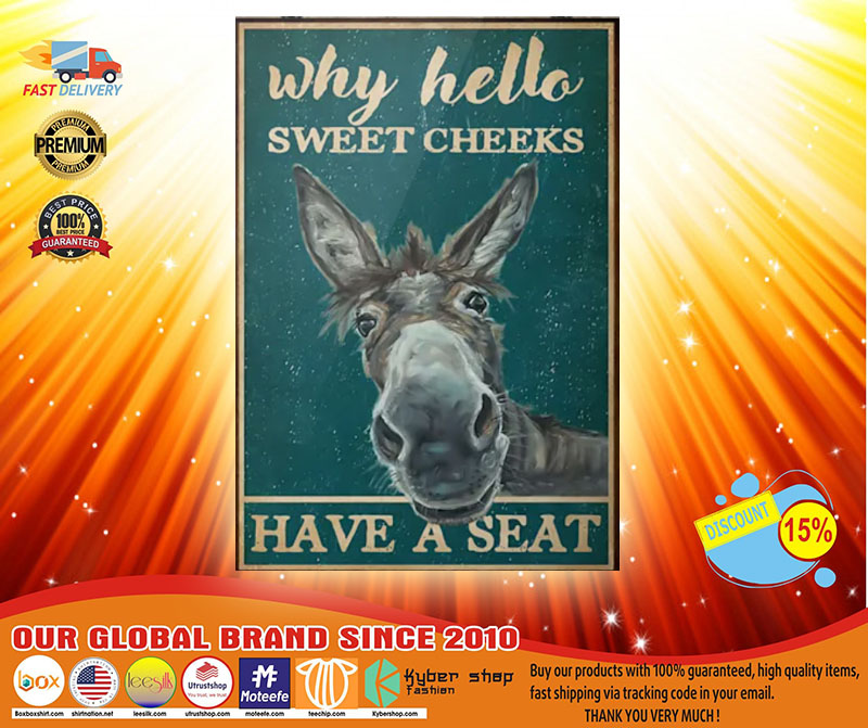 Donkey why hello sweet cheeks have a seat poster4