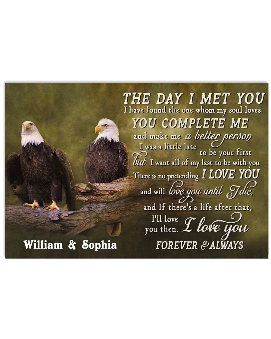 Eagles The day I met you custom name poster
