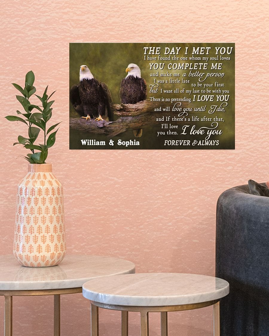 Eagles The day I met you custom name poster4