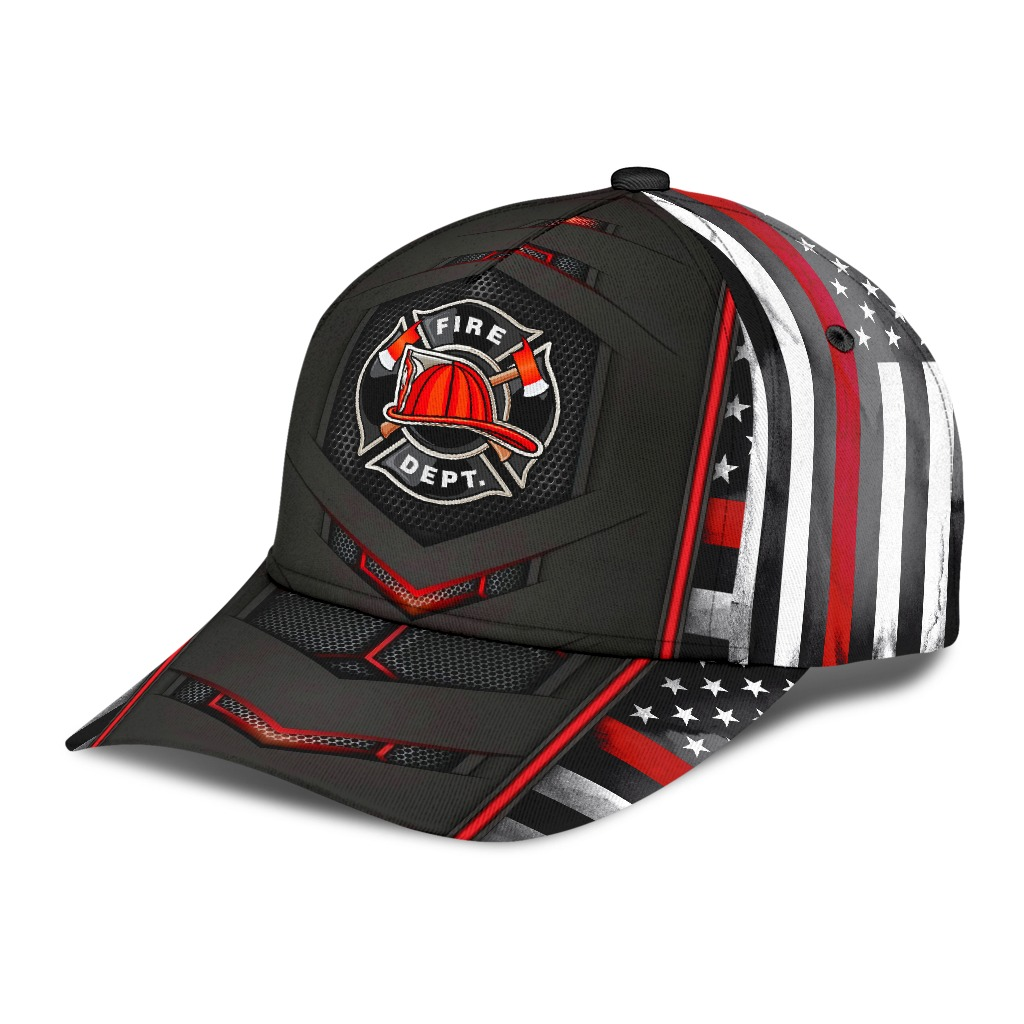 Firefighter flag red carbon cap4