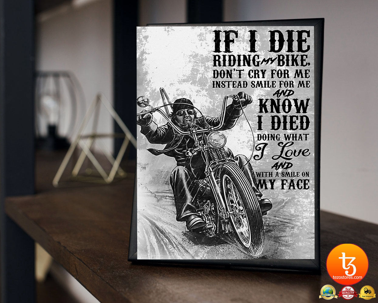 If i die riding bike don't cry for me poster