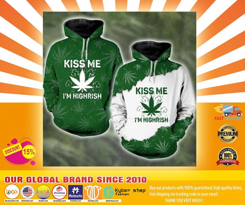 Kiss me I'm highrish couple 3d hoodie4