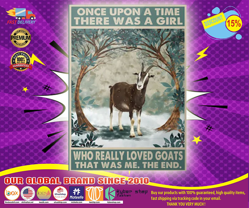 Once upon a time there was a girl who really loved goats poster1111