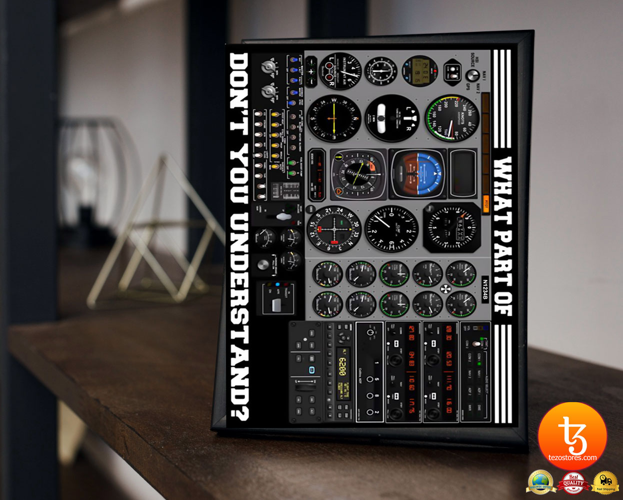 Pilot Flight instruments what part of don't you understand poster