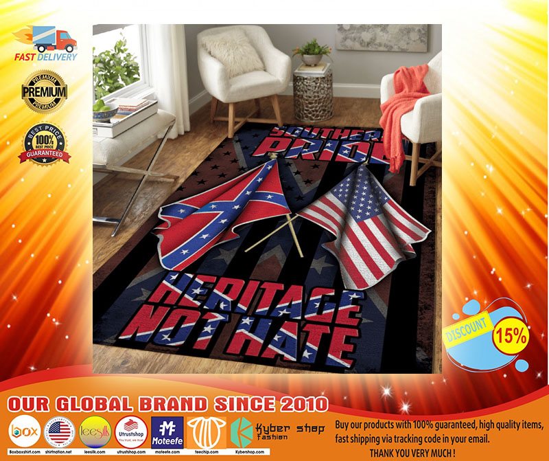 Souther pride Heritage not hate confederate rug4