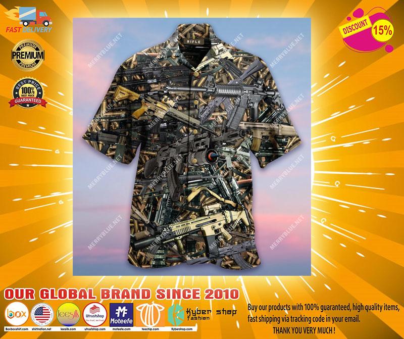 The Quickest Way To A Man's Heart Is 2970 Feet Per Second Unisex Hawaiian Shirt4