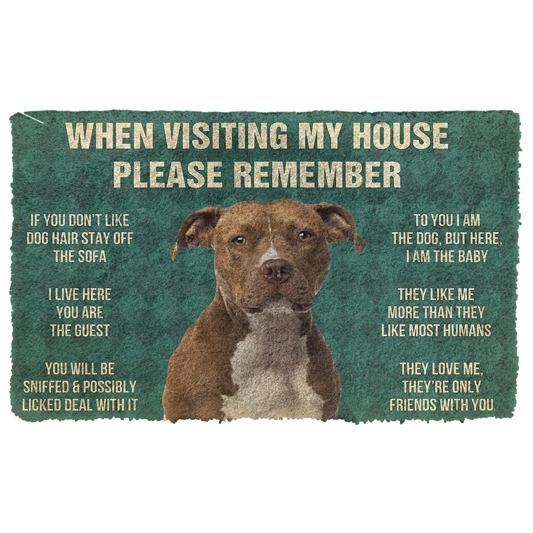 When visiting my house please remember terrier dog doormat