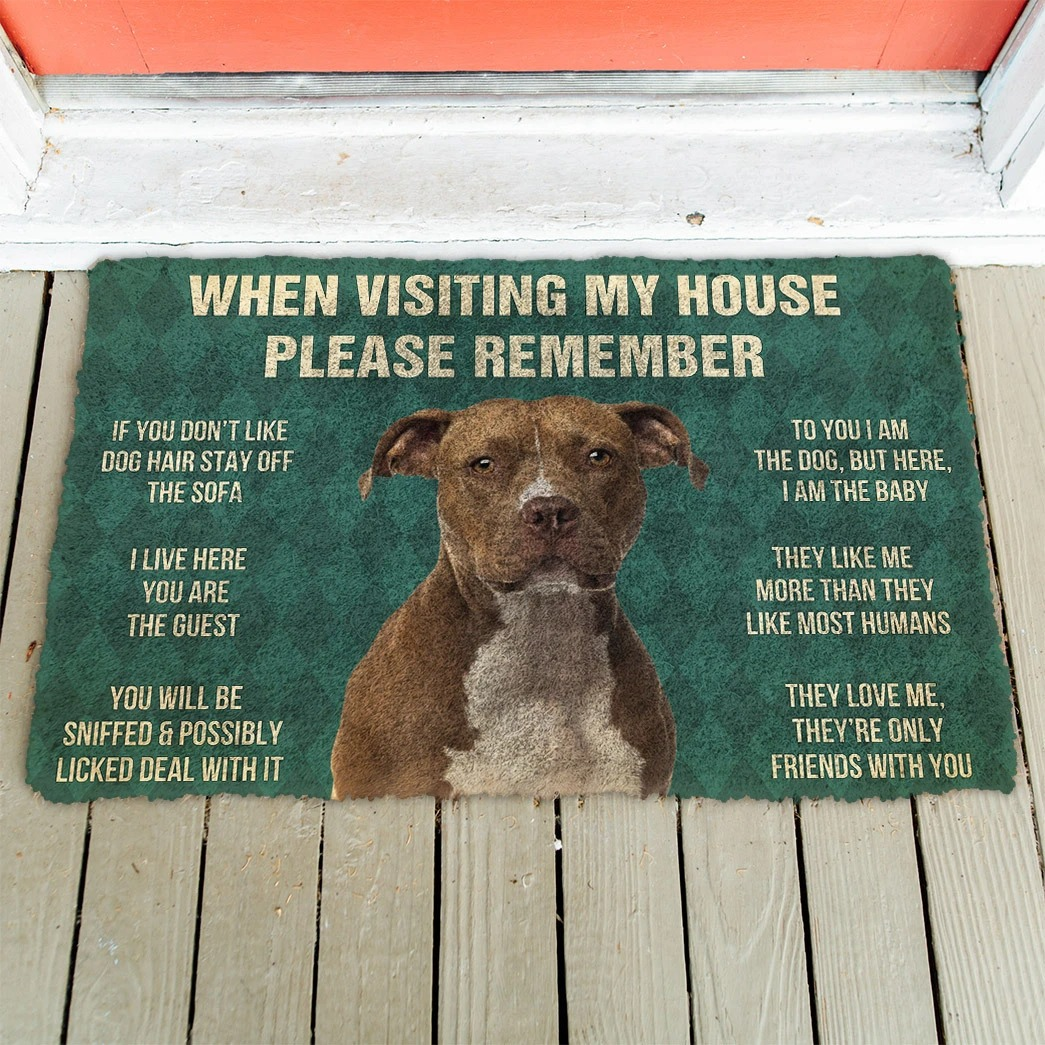When visiting my house please remember terrier dog doormat4