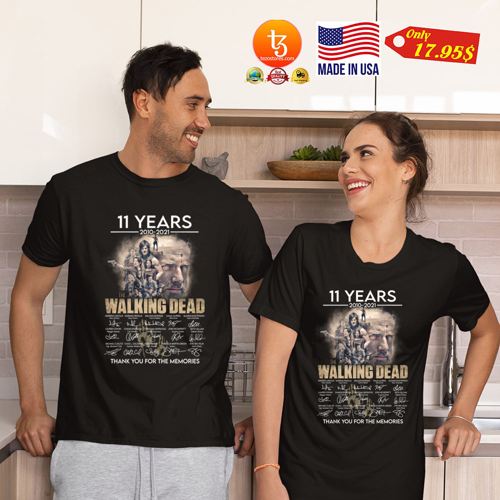 11 years 2010 2021 The walking dead thank you for the memories Shirt 21