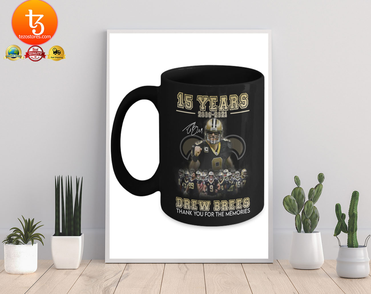 15 years 2006 - 2021 drew brees thank you for the memories mug 19