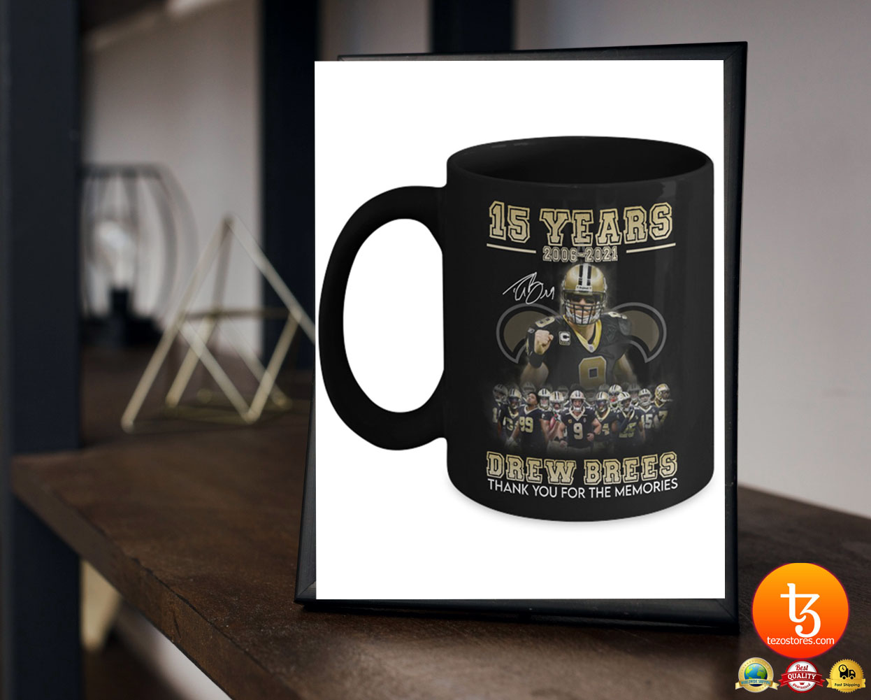 15 years 2006 - 2021 drew brees thank you for the memories mug 23