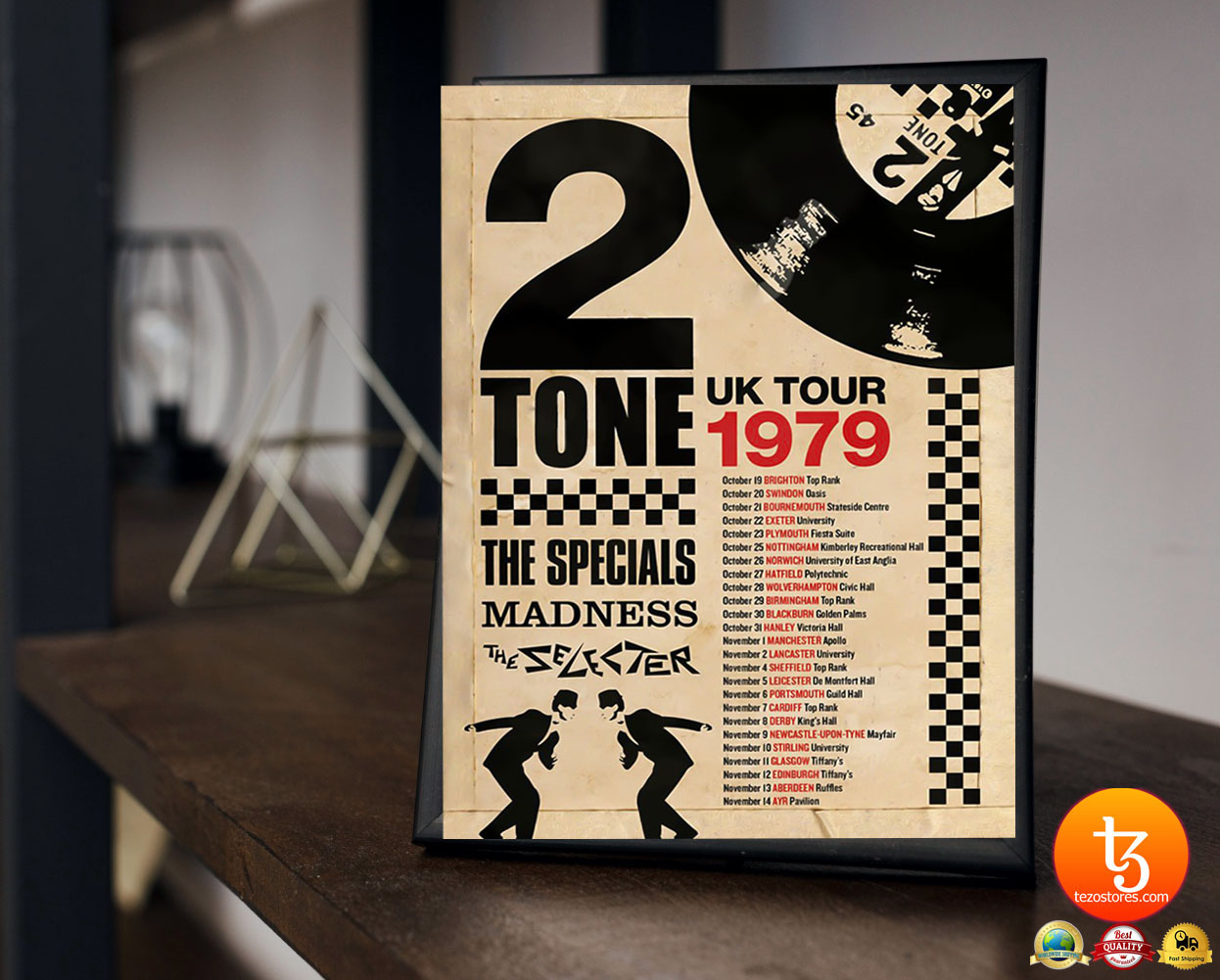 2 Tone UK tour 1979 the specials madness poster
