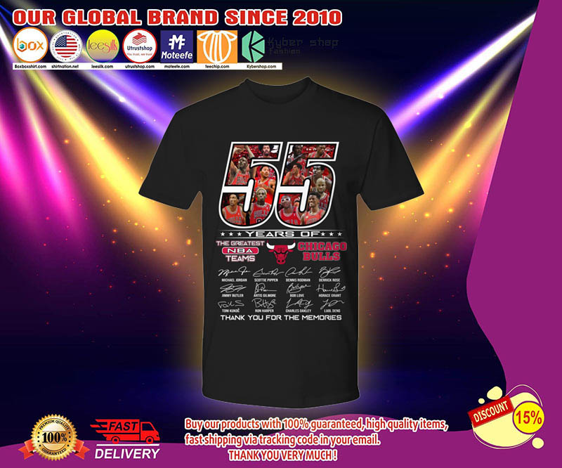 55 years of the greatest NBA teams Chicago Bulls shirt