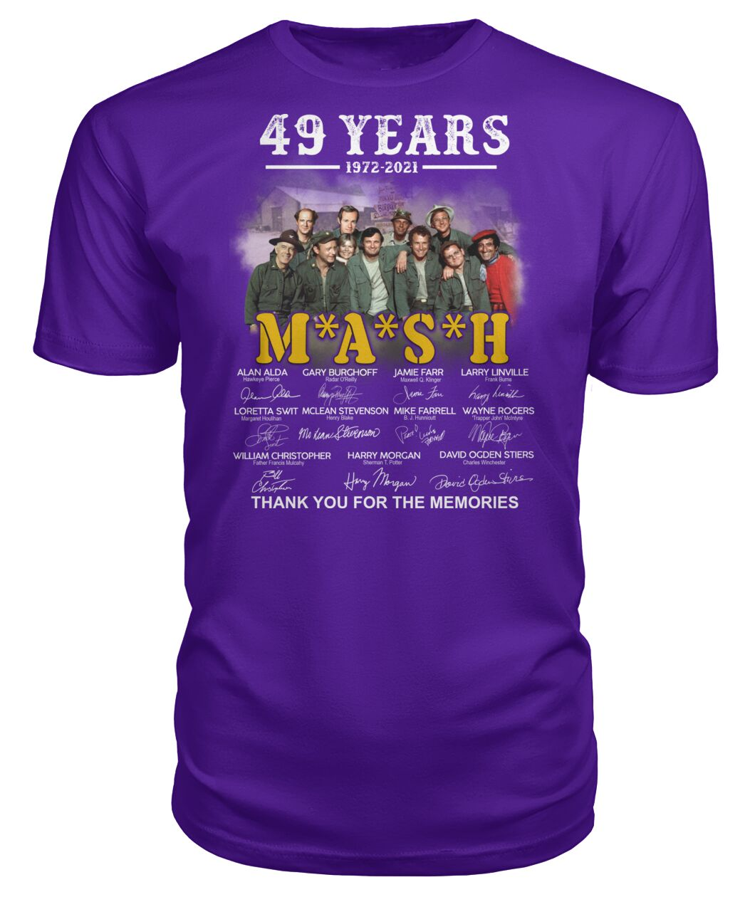 49 years 1972 2021 mash thank you for the memories Shirt 25