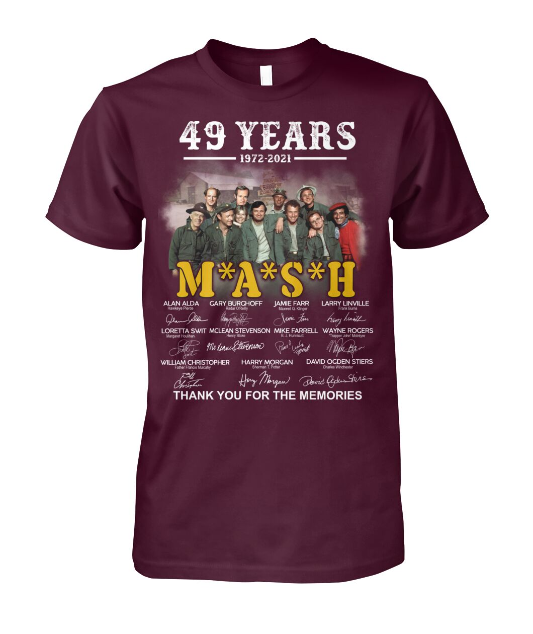 49 years 1972 2021 mash thank you for the memories Shirt 21