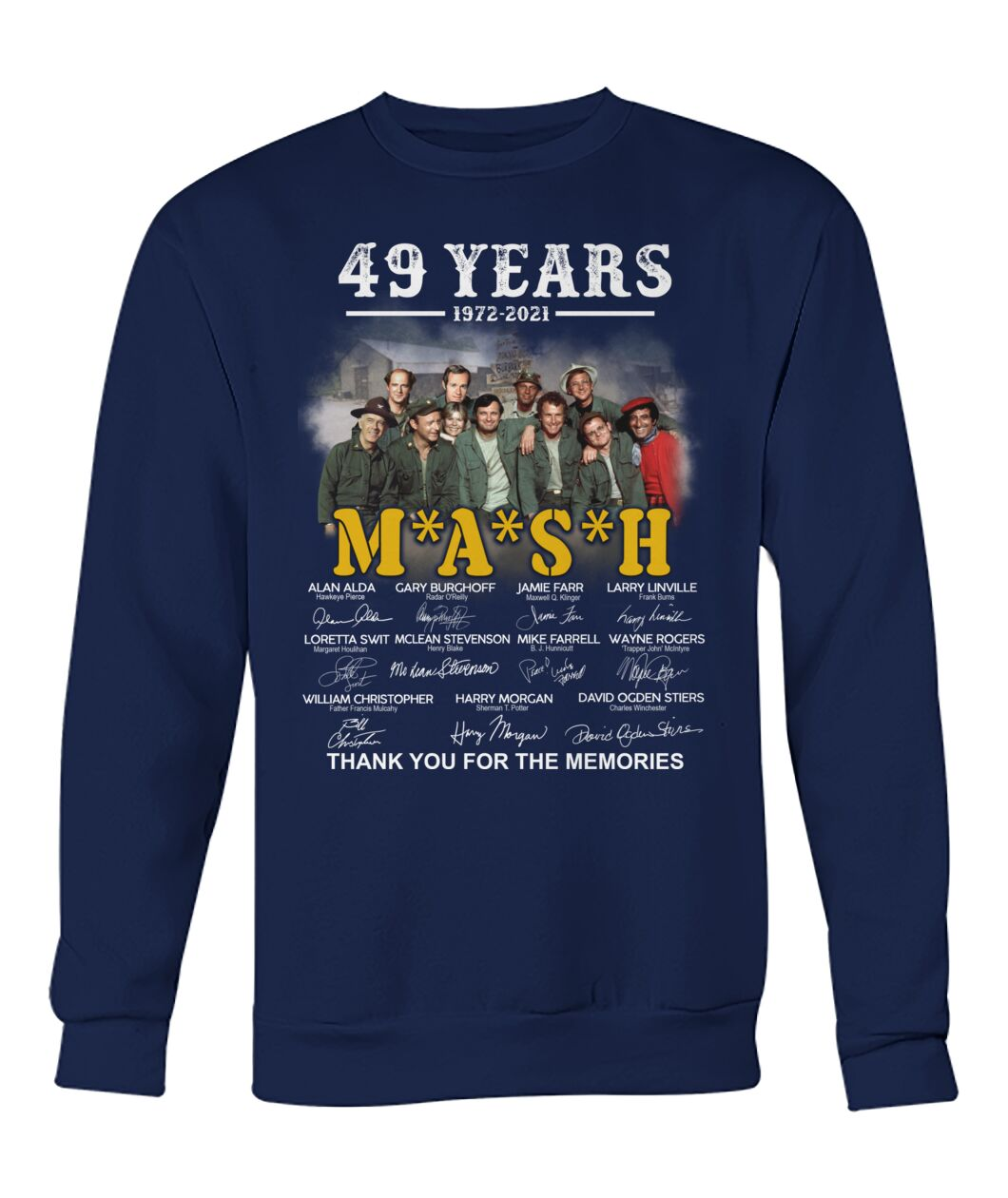 49 years 1972 2021 mash thank you for the memories Shirt 23