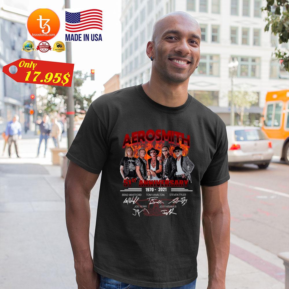Aerosmith 51st Anniversary1970 2021 Shirt 19