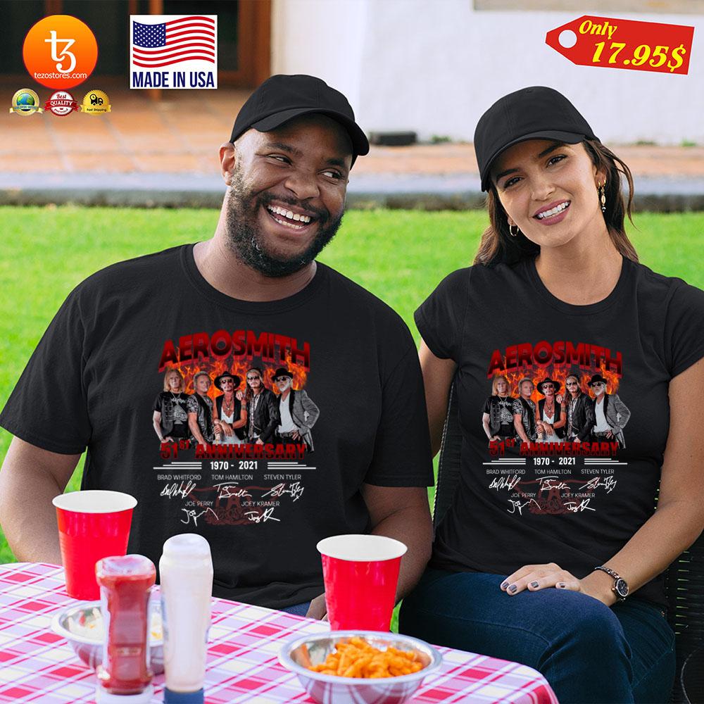 Aerosmith 51st Anniversary1970 2021 Shirt 23