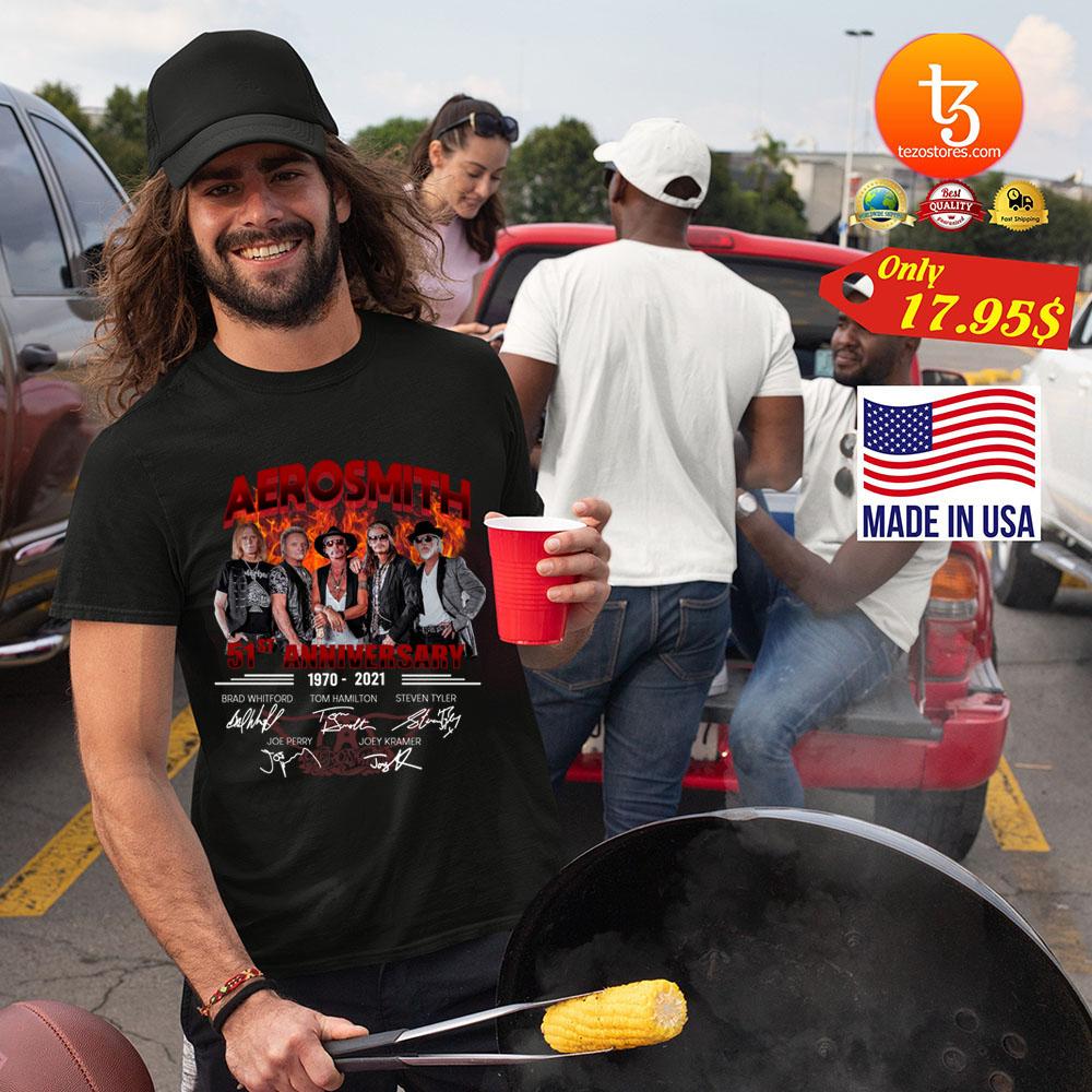 Aerosmith 51th anniversary 1970 2021 shirt 19