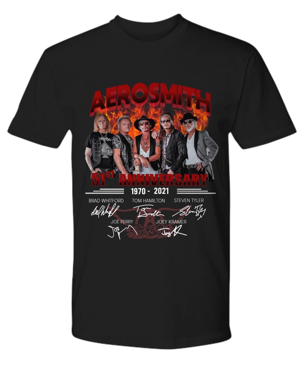 Aerosmith 51th anniversary 1970 2021 shirt 23