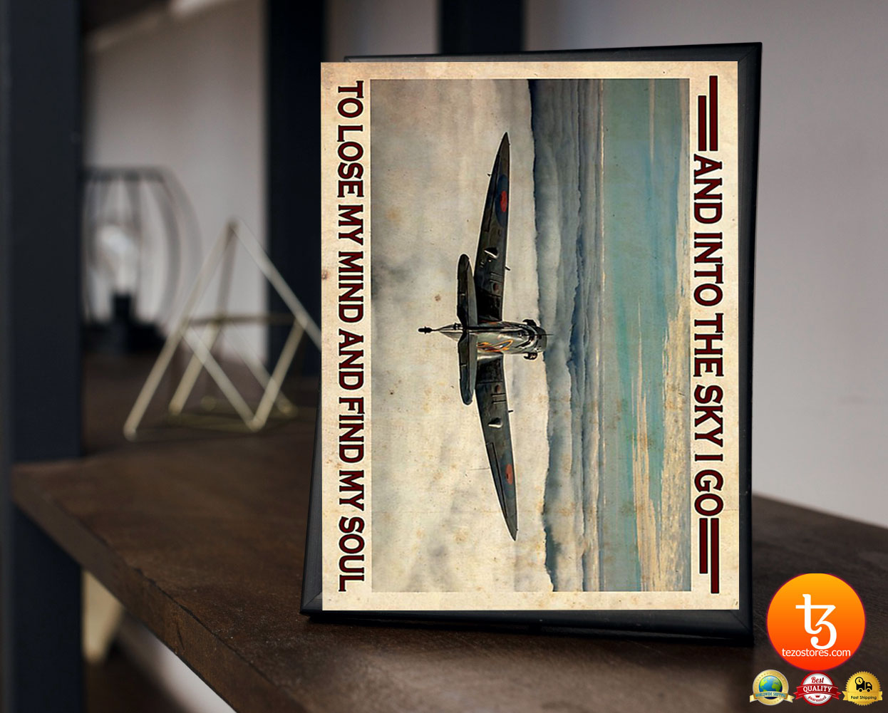 Airplan and into the sky I go to lose my mind and find my soul poster 19