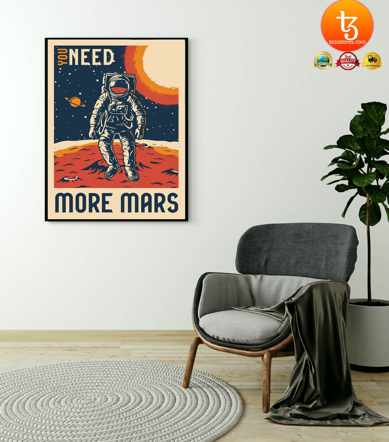 Astronaut You need more mars poster 3