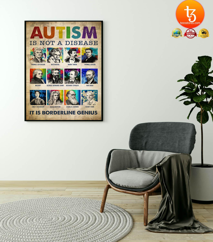 Autism is not a disease it is borderline genius poster 23