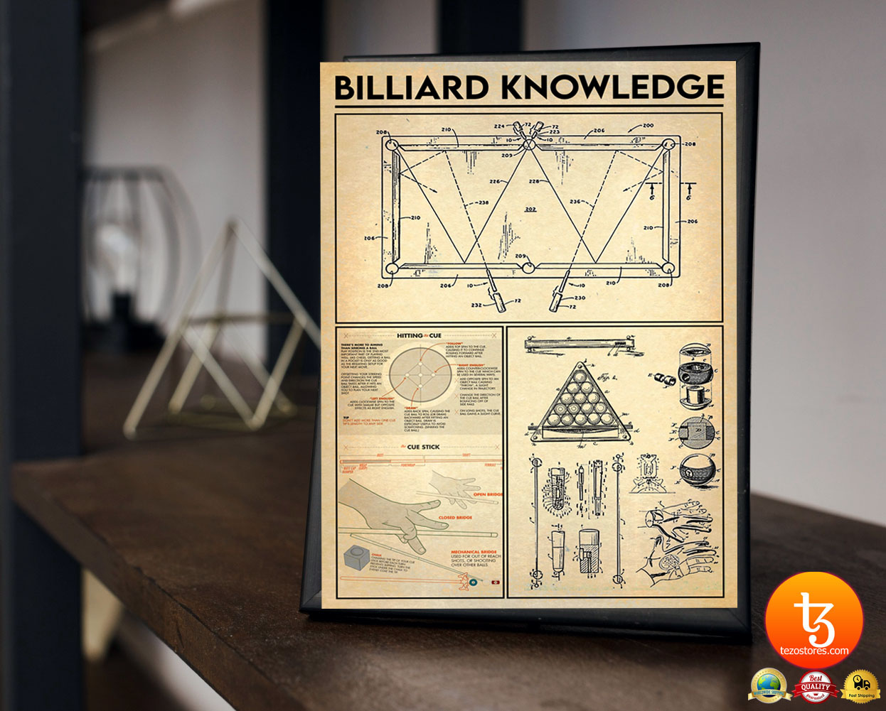 Billiard knowledge poster 23