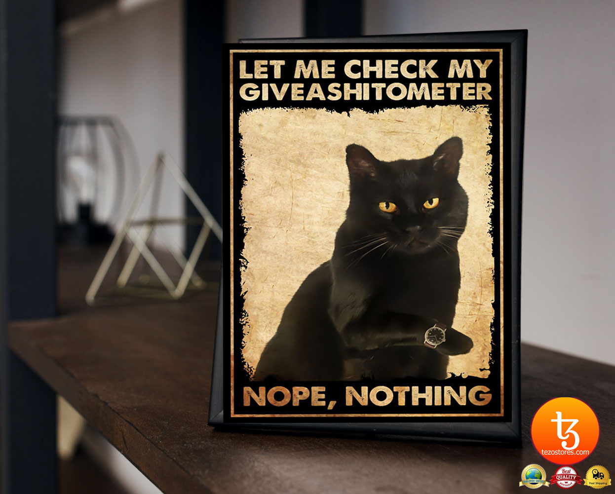 Cat let me check my giveashitometer nope nothing poster 19