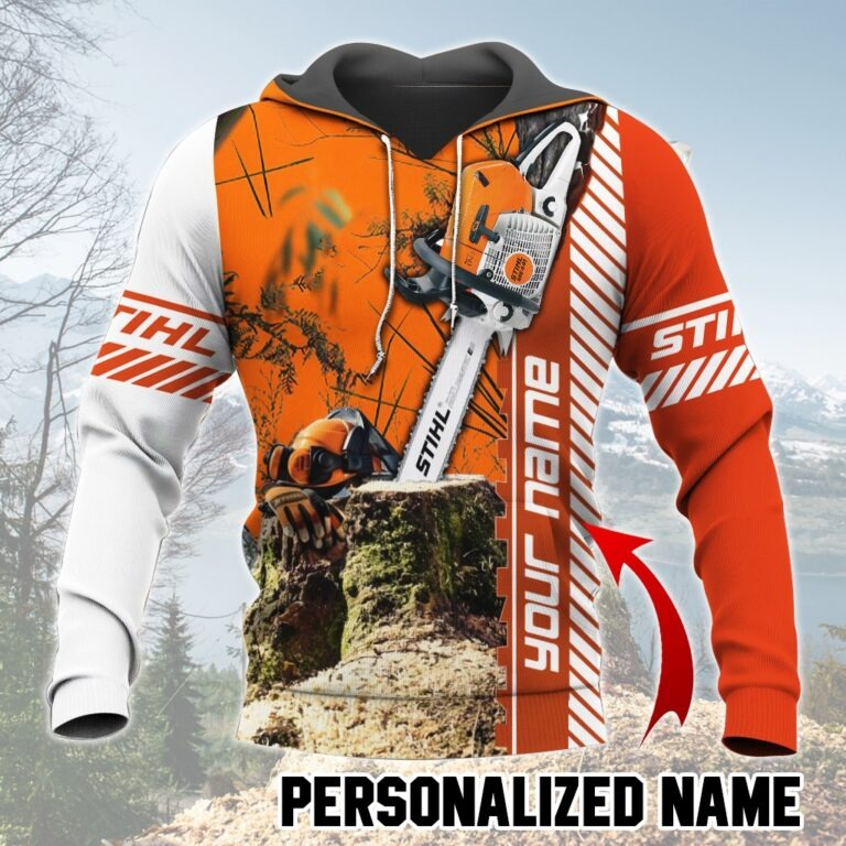 Chainsaw custom name 3D hoodie