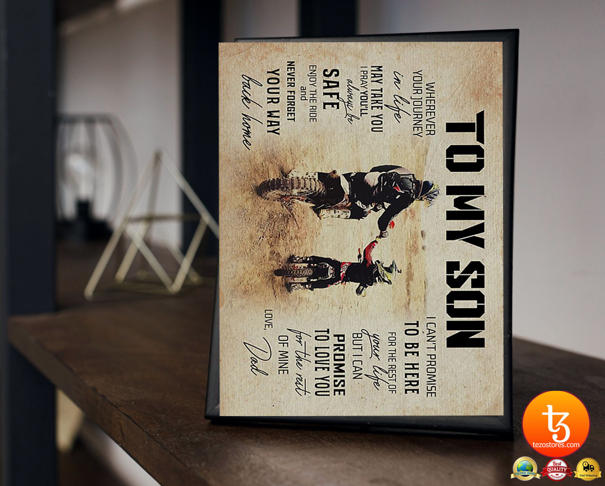 Dad to son motocross wherever your journey in life poster