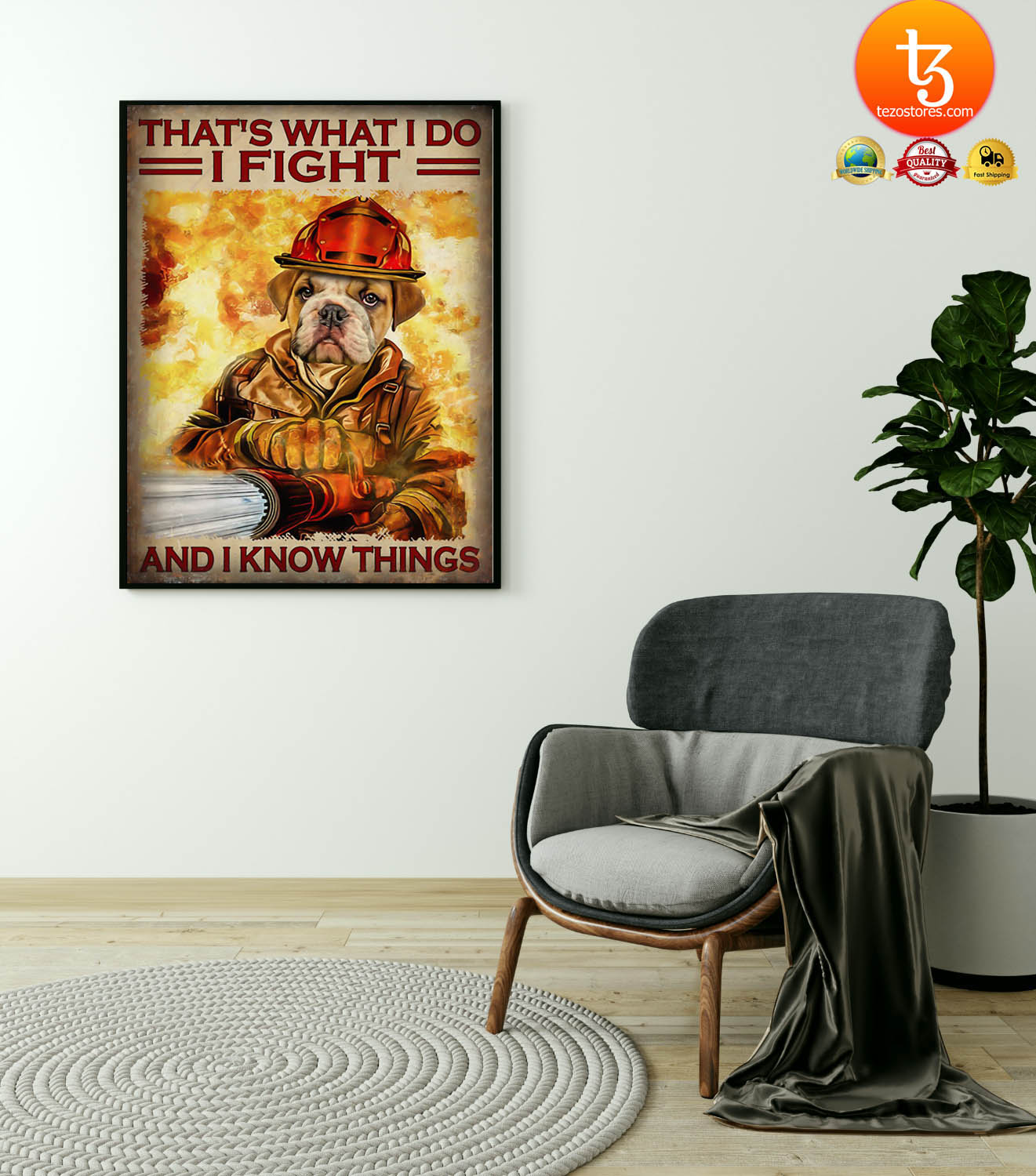 Dog that's what I do I fight and I know things poster 23