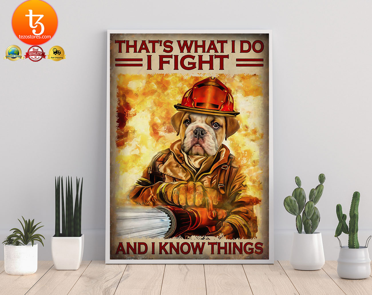 Dog that's what I do I fight and I know things poster 21