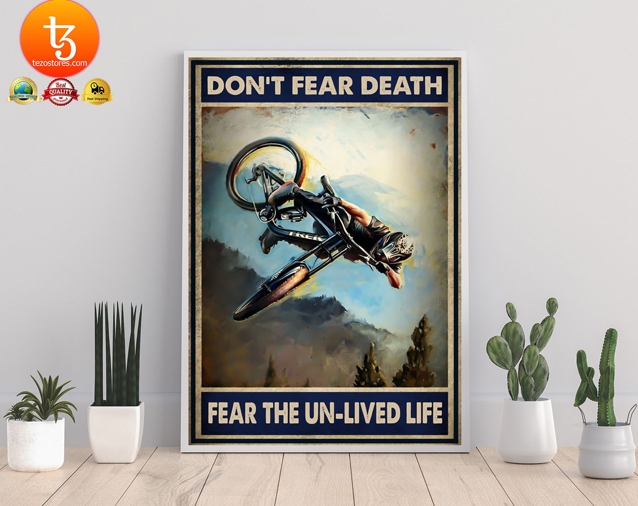 Don't fear death fear the un-lived life poster
